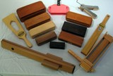 Wooden Accessories, Slapsticks, Ratchets (various items / call for prices)