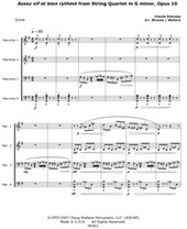 String Quartet in G minor (Assez vif et bien rythmé) by Claude Debussy Arr. Doug Wallace & Matthew Strauss (Digital)