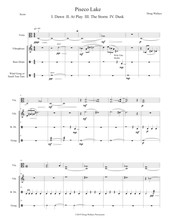 Piseco Lake - Duet for Viola and Percussion by Doug Wallace (Digital Download)
